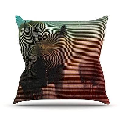 KESS InHouse Abstract Rhino Throw Pillow; 20'' H x 20'' W