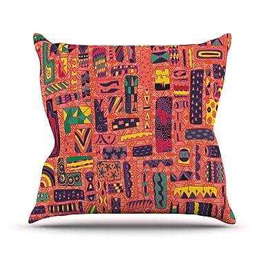 KESS InHouse Squares Throw Pillow; 18'' H x 18'' W