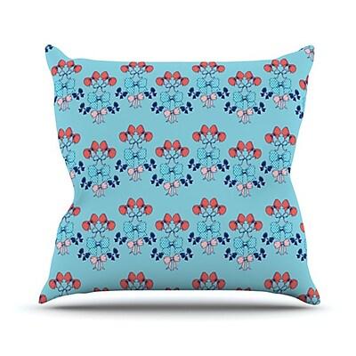KESS InHouse Bows Throw Pillow; 20'' H x 20'' W