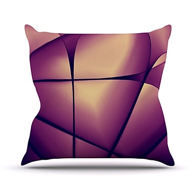 KESS InHouse Paper Heart Throw Pillow; 18'' H x 18'' W