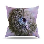 KESS InHouse Dandelion Clock Throw Pillow; 18'' H x 18'' W