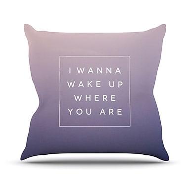 KESS InHouse Wake Up Throw Pillow; 26'' H x 26'' W