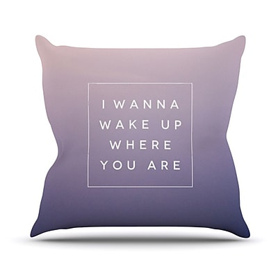 KESS InHouse Wake Up Throw Pillow; 20'' H x 20'' W