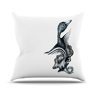 KESS InHouse Swan Horns Throw Pillow; 18'' H x 18'' W x 4.1'' D