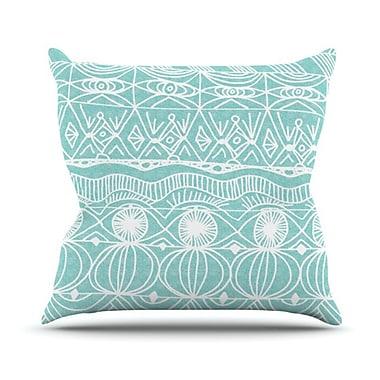 KESS InHouse Beach Blanket Bingo Throw Pillow; 18'' H x 18'' W
