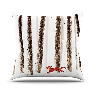 KESS InHouse Run and Roam Throw Pillow; 20'' H x 20'' W