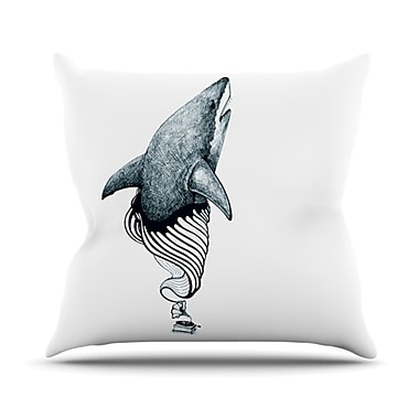 KESS InHouse Shark Record Throw Pillow; 20'' H x 20'' W x 4.5'' D
