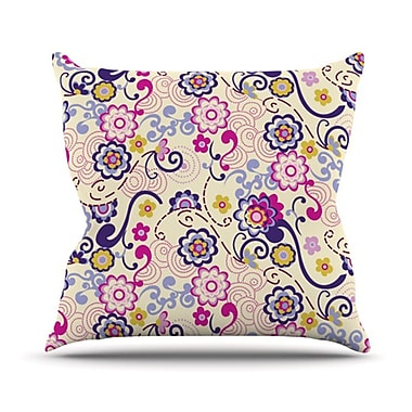 KESS InHouse Arabesque Throw Pillow; 18'' H x 18'' W