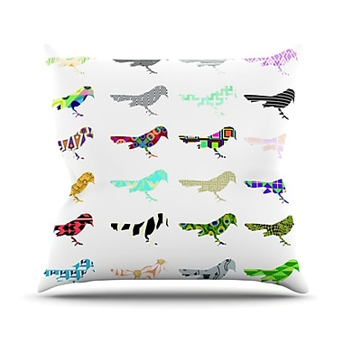 KESS InHouse Birds Throw Pillow; 20'' H x 20'' W