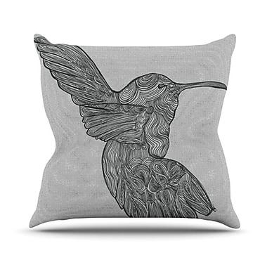 KESS InHouse Hummingbird Throw Pillow; 20'' H x 20'' W