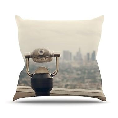 KESS InHouse The View LA Throw Pillow; 26'' H x 26'' W