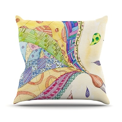 KESS InHouse The Painted Quilt Throw Pillow; 18'' H x 18'' W
