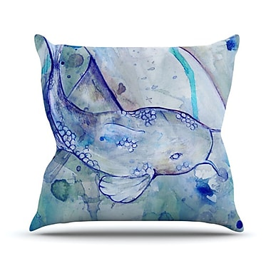 KESS InHouse Koi Playing Throw Pillow; 18'' H x 18'' W