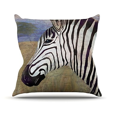 KESS InHouse Zebransky Throw Pillow; 18'' H x 18'' W