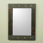 Novica Rita Addo Zakour African Artisan Crafted Rustic Wood Wall Mirror