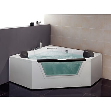 Ariel Bath 59'' x 59'' Whirlpool Tub