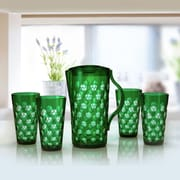Immanuel Dots 5 Piece Pitcher Set; Ocean Green