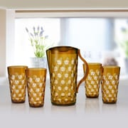 Immanuel Dots 5 Piece Pitcher Set; Amber