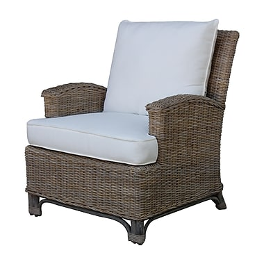 Panama Jack Sunroom Exuma Lounge Chair; Canvas Capri