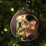 La Pastiche Kiss Hand Painted Glass Ornament