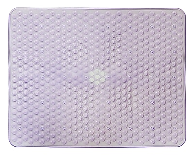 AttractionDesignHome Kitchen Sink Mat; Purple