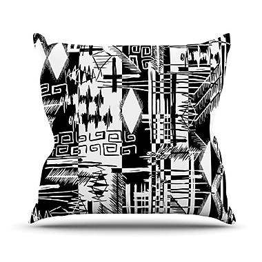 KESS InHouse Tropical Buzz Throw Pillow; 20'' H x 20'' W