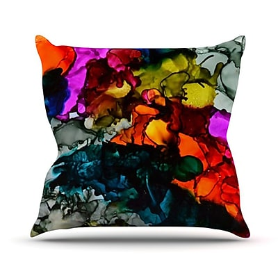 KESS InHouse Hippie Love Child Throw Pillow; 18'' H x 18'' W