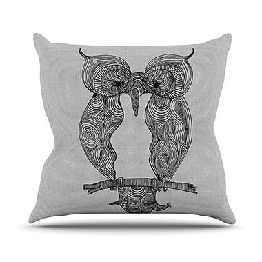 KESS InHouse Owl Throw Pillow; 26'' H x 26'' W