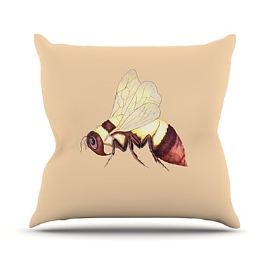 KESS InHouse Be Happy Throw Pillow; 18'' H x 18'' W