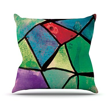 KESS InHouse Stain Glass 1 Throw Pillow; 20'' H x 20'' W
