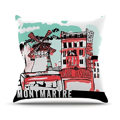 KESS InHouse Montmartre Throw Pillow; 20'' H x 20'' W