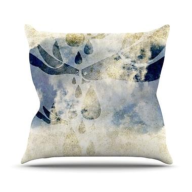 KESS InHouse Doves Cry Throw Pillow; 18'' H x 18'' W
