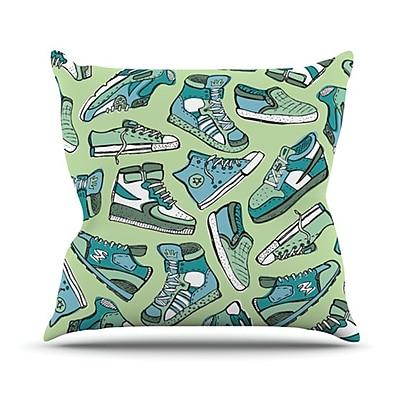 KESS InHouse Sneaker Lover I Throw Pillow; 26'' H x 26'' W