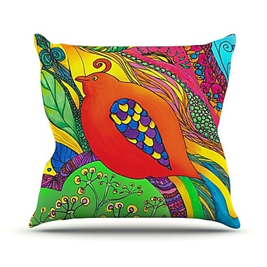 KESS InHouse Psycho-Delic Dan Throw Pillow; 18'' H x 18'' W