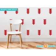 Sunny Decals Four-Triangle-Arrow Wall Decal (Set of 32); Red