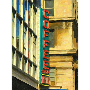 Graffitee Studios 'Coffee Shop Painted' Painting Print on Wrapped Canvas