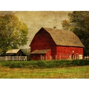 Graffitee Studios Florals 'Red Barn' Photographic Print on Wrapped Canvas