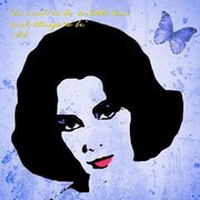 Graffitee Studios Pop Art 'Elizabeth Taylor So Much to Do' Graphic Art on Wrapped Canvas