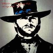 Graffitee Studios Pop Art 'Clint Eastwood There's a Rebel' Graphic Art on Wrapped Canvas