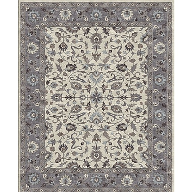 Due Process Stable Trading Co Ziegler Hand-Tufted Sand/Pearl Area Rug; Rectangle 5' x 8'