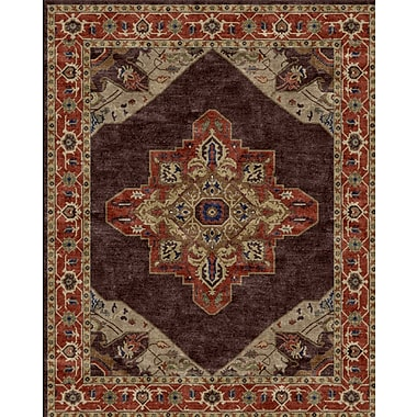 Due Process Stable Trading Co Heriz Hand-Tufted Chocolate Area Rug; Square 8'