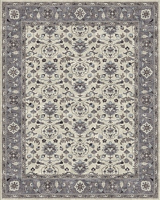 Due Process Stable Trading Co Meshed Hand-Tufted Sand/Pearl Area Rug; Rectangle 2'6'' x 4'