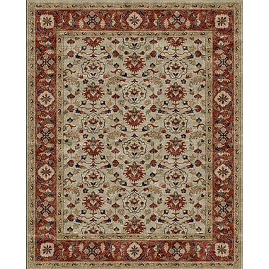 Due Process Stable Trading Co Meshed Hand-Tufted Sand/Clay Area Rug; Square 6'