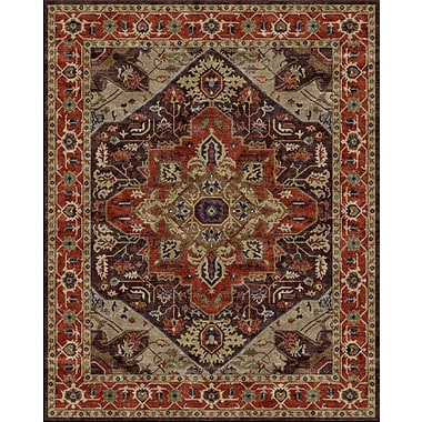 Due Process Stable Trading Co Heriz Hand-Tufted Chocolate Area Rug; Round 8'