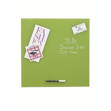 Better Houseware Magnetic Glass Board 17 3/4'' x 17 3/4''; Green