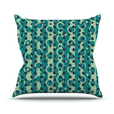 KESS InHouse Bubbles Made of Paper Throw Pillow; 18'' H x 18'' W
