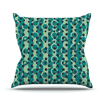 KESS InHouse Bubbles Made of Paper Throw Pillow; 20'' H x 20'' W
