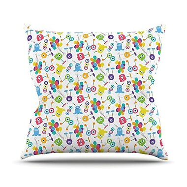 KESS InHouse Fun Creatures Throw Pillow; 18'' H x 18'' W