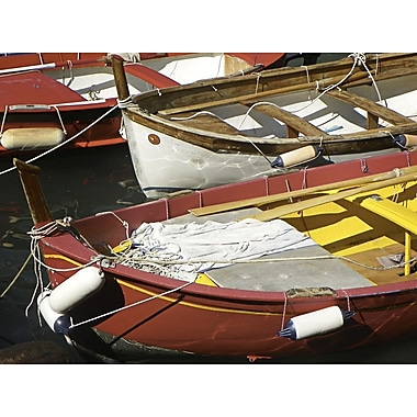 Graffitee Studios General Coastal 'Red Fishing Boats' Photographic Print on Wrapped Canvas
