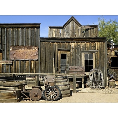 Graffitee Studios Rustic & Farmhouse 'Ghost Town Old West' Photographic Print on Wrapped Canvas